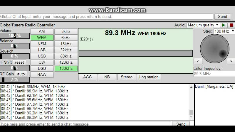 Sporadic-E SR P1 from Goteborg received in Marganets on 89.3 MHz during the Le-Mans 24-hour race