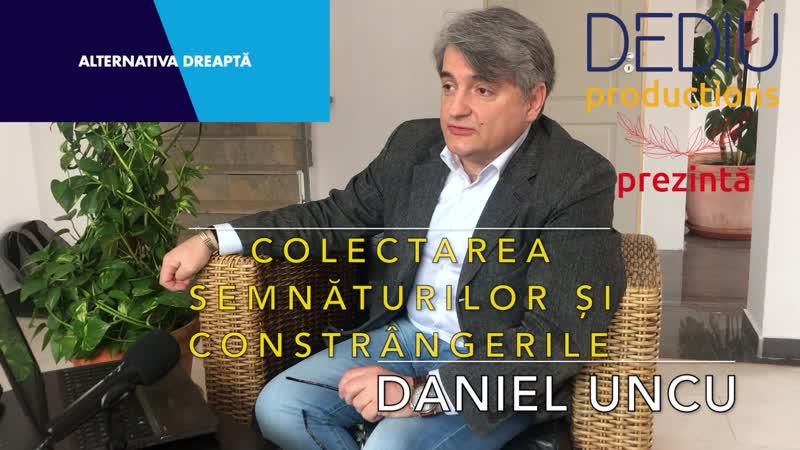 Daniel Uncu despre colectarea semnăturilor și constrângerile de a vota