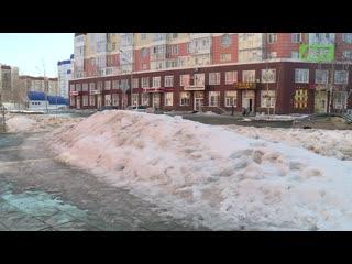 Куча-горка-лужа. История снега, что всю зиму валялся у порога нашего Телецентра