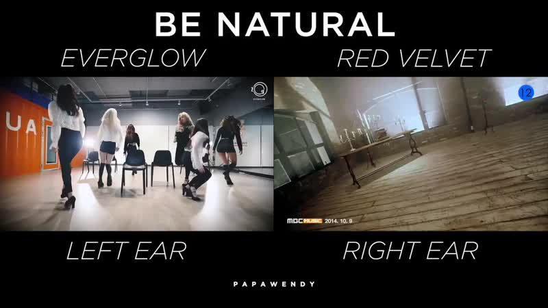 Be natural everglow red velvet