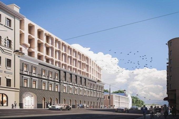 """Хотим рассказать про новый красивый проект, которые реализовывается на пересечении улиц Остоженка и Пречистенка, где появится проект """"Allegoria Mosca""""."""