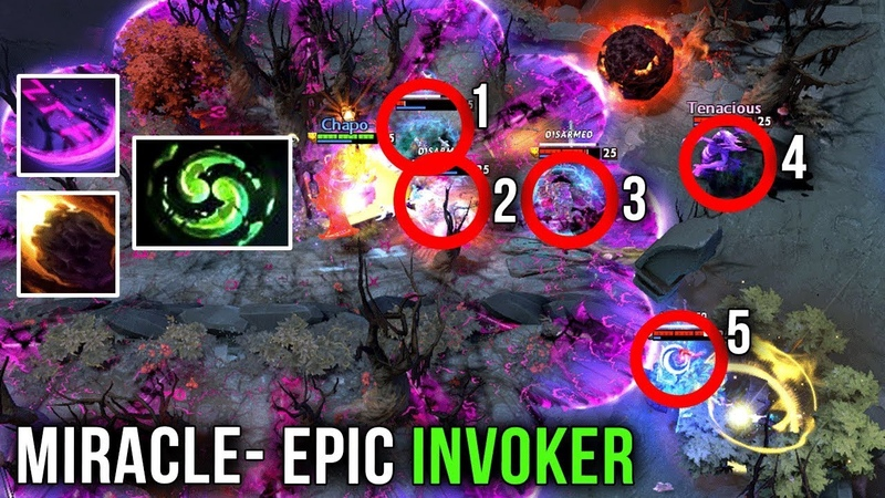 Miracle- M-GOD EPIC SH*T 1 HOUR Invoker GAME - WTF IS THIS 2x Meteor 2x Deafening Blast - Dota 2