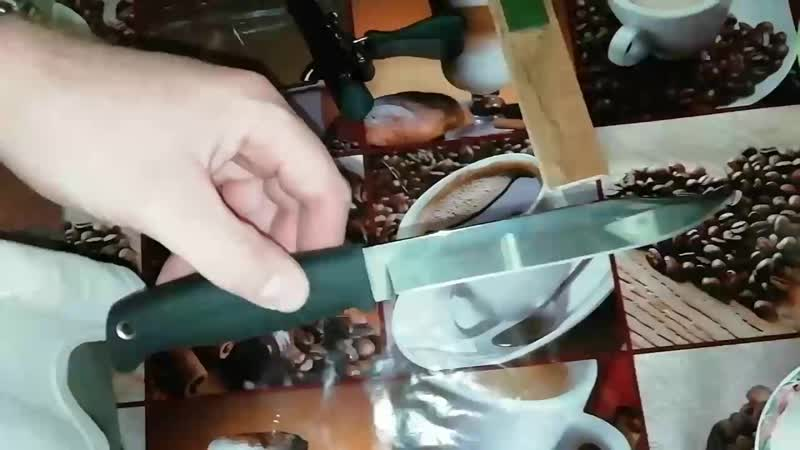 Правка ножа Таран ООО ПП Кизляр на досочке