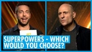 The Cast Of Shazam! Pick Their Favourite Superpowers - Zachary Levi Mark Strong Interview