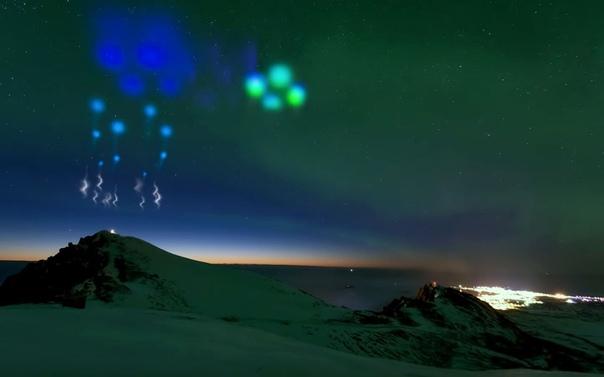 Мы видим НЛО! Именно такие сообщения недавно начала получать полиция Норвегии. На самом деле на снимках, к сожалению, не летающие тарелки. Этот потрясающий эффект создали две метеорологические
