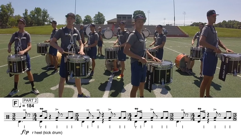 2017 Carolina Crown Snares LEARN THE MUSIC to NO one To kNOW one
