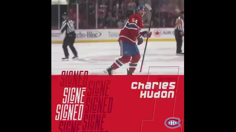 Les Canadiens s entendent sur les modalit s d un contrat d une saison à un volet avec Charles Hudon 800 000. .mp4