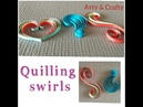 Quilling Swirls Tutorial paper quilling 3 swirls basic shapes