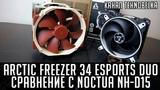 Arctic Cooling Freezer 34 eSports DUO. Сравнение с Noctua NH-D15.