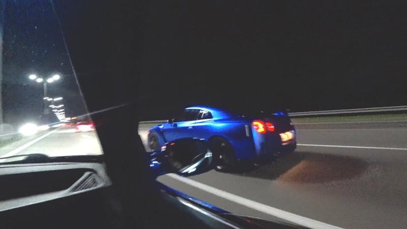 BMW 2jz gte 1000hp зарубился с GT R 950hp Влетели в дождь на скорости 300