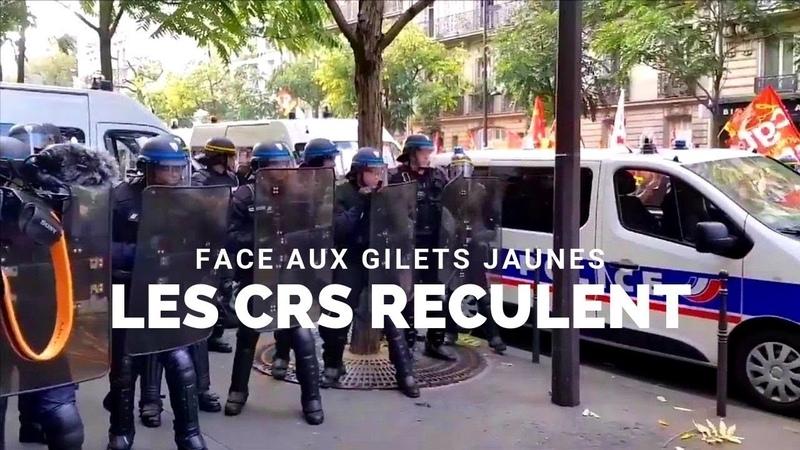 [CHOC AGRESSION] | LES CRS RECULENT FACE AUX GILETS JAUNES