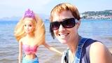 Принцесса Русалочка. Видео для детей напляже. Песочница иМаша Капуки Кануки. Игры для девочек