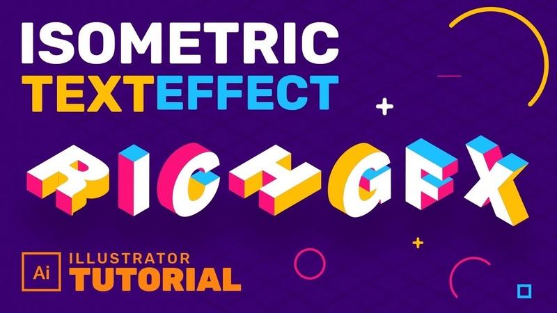 3D Isometric Text Effect In Adobe Illustrator - Adobe Illustrator Tutorial
