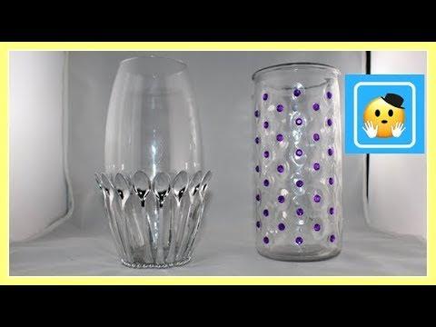 DIY - Decora Jarrones De Vidrio(1/2) (Jar decorating ideas)