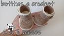 Tutorial botas de bebe a crochet 0 a 3 meses