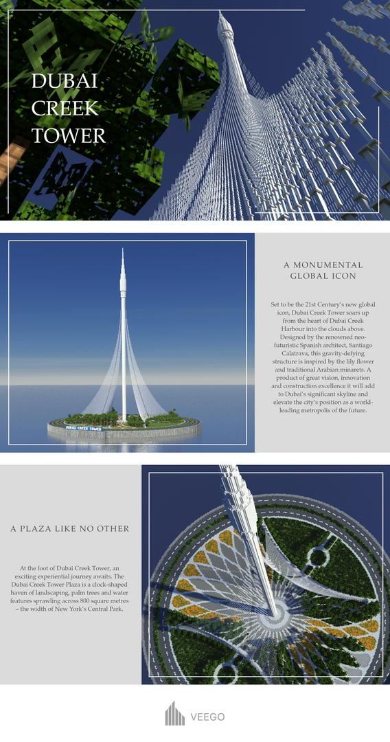 Dubai Creek Tower | Skyscrapers 1 Minecraft Map