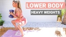 LOWER BODY workout with WEIGHTS - best exercises for BUTT LEGS | Rebecca Louise