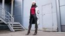 Kristina's pointed toe high heels Gianmarco Lorenzi brown leather boots Size EU 38 5 US 8