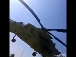 The iraqi military properly employing one of its mi-35m helicopters. -