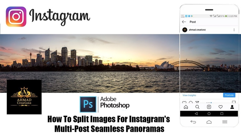 Photoshop: How To Split Images For Instagram's Multi-Post Seamless Panoramas