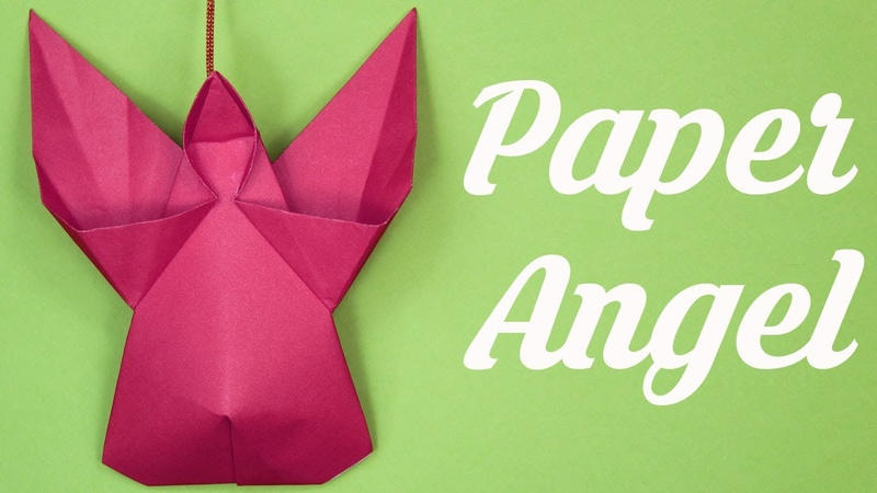 Easy Paper Angel , Christmas decoration, Christmas tree decoration, Merry christmas