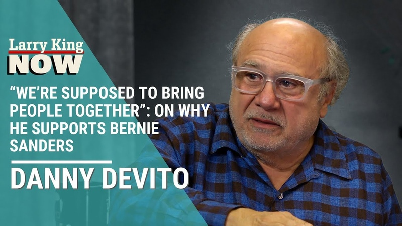"""We're Supposed To Bring People Together"""" Danny DeVito On Why He Supports Bernie Sanders"""