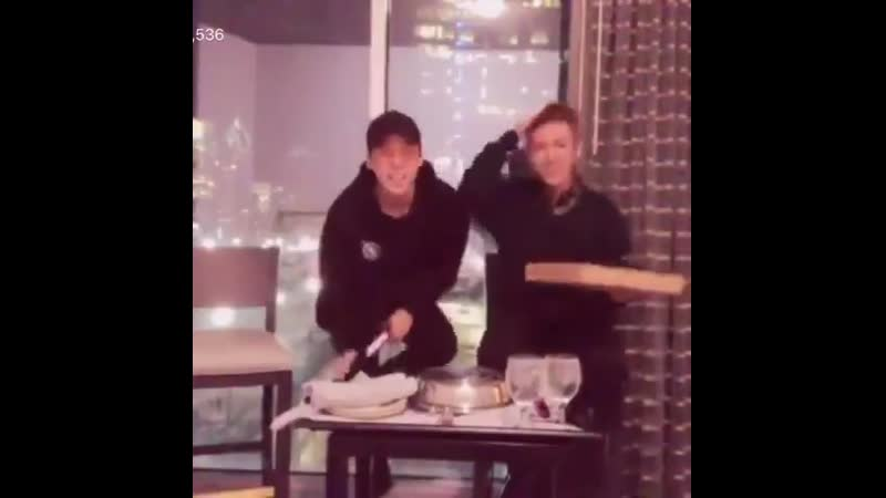 Yunho being TOO excited singing happy birthday to an atiny and hurting his foot on the chair. PROTECT! - - HappyYunhoDay Our_Tre