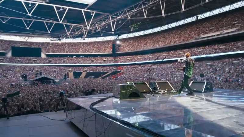 Drunk Ed Sheeran in Wembley Stadium