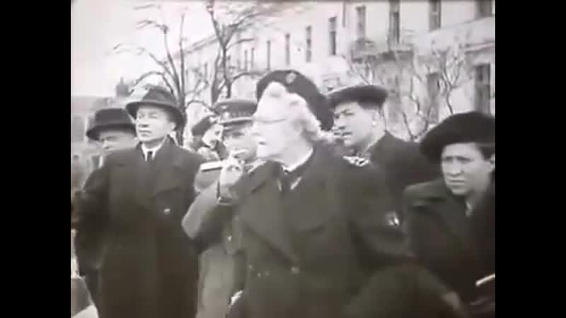 Клементина Черчилль в Одесі 1945 рік