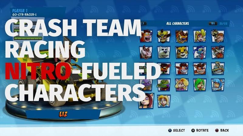 Crash Team Racing Nitro-Fueled - All Racers | E3 2019