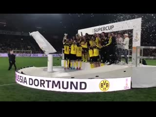 German footballer of the year lifts his first trophy of the season