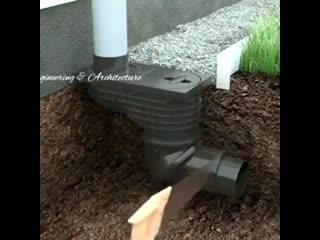 Идея, как собрать дождевую воду.