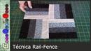 Cómo hacer la Técnica Rail Fence Patchwork Tutorial