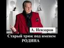 А. Невзоров. Старый трюк под именем - Родина