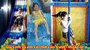 Gia Linh và em Cò chơi cầu trượt siêu dài Múa Cột trong nhà bóng liên hoàn