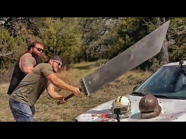Мегамеч рубит машину и смеется в лицо бронебойной .50 BMG Разрушительное ранчо Перевод Zёбры