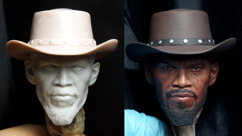 [ENG한국어] Painting a 16 scale Django head sculpt process - Part 1