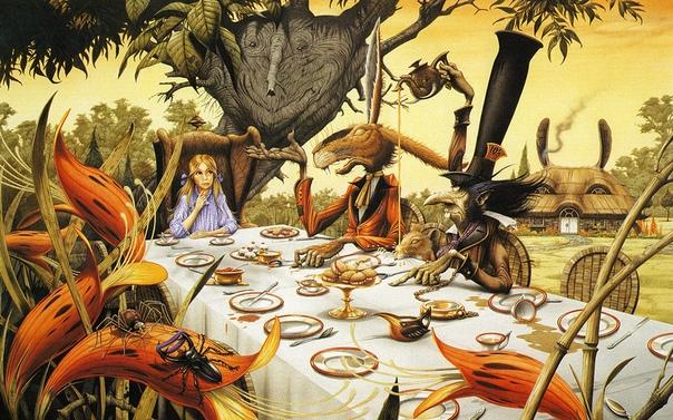 Причудливые иллюстрации к «Алисе в стране чудес», «Властелину колец» и рок-пластинкам от Родни Мэттьюза Фантазия художника не знает границ, смешивая фэнтезийных животных и магию с