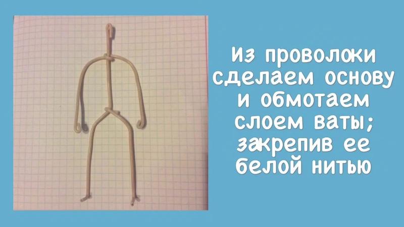 Ватная игрушка Снегурочка. МК ЧАСТЬ 1