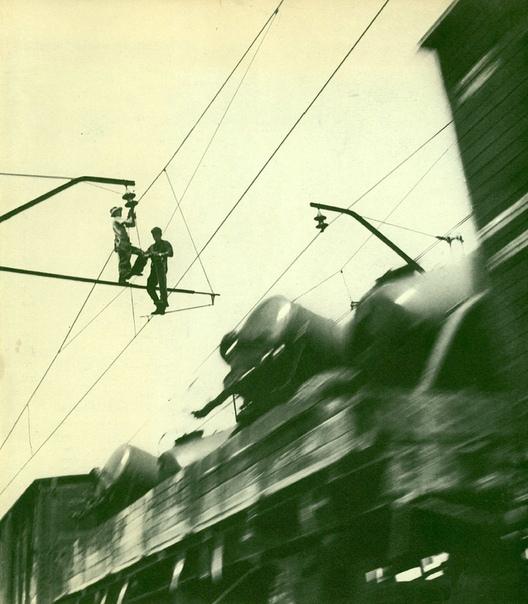 Электрификация железнодорожной магистрали (Донецкая область, УССР, 1960 год) Фото: С. Косырев