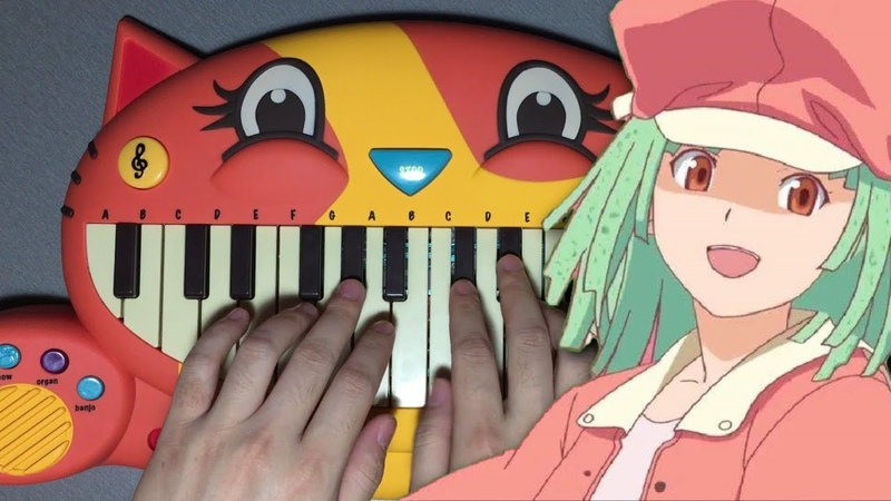 Renai Circulation but it's played on a CAT PIANO