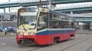 Трамвай 71-619А (КТМ-19А) №2122 с маршрутом №38 3-я Владимирская Улица - Черёмушки