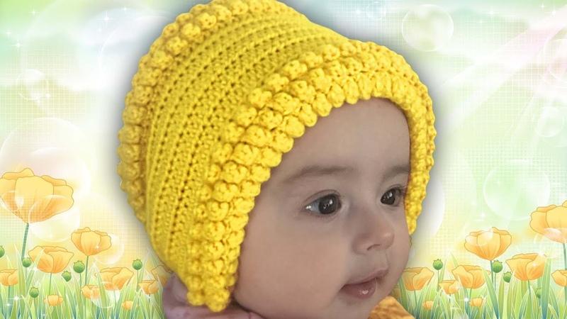 ✅ШАПОЧКА, ЧЕПЧИК, для новорожденных, вязание КРЮЧКОМ, для начинающих