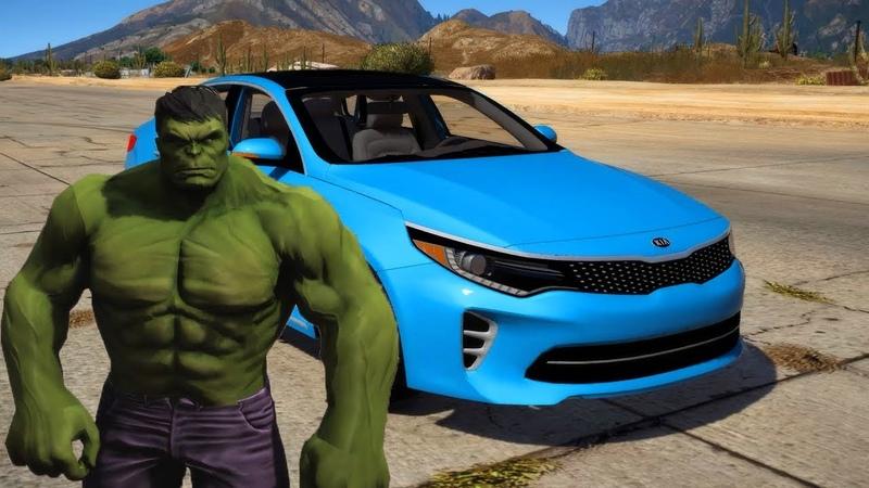 GTA 5 mod Kia K5 SX (Optima) and Hulk
