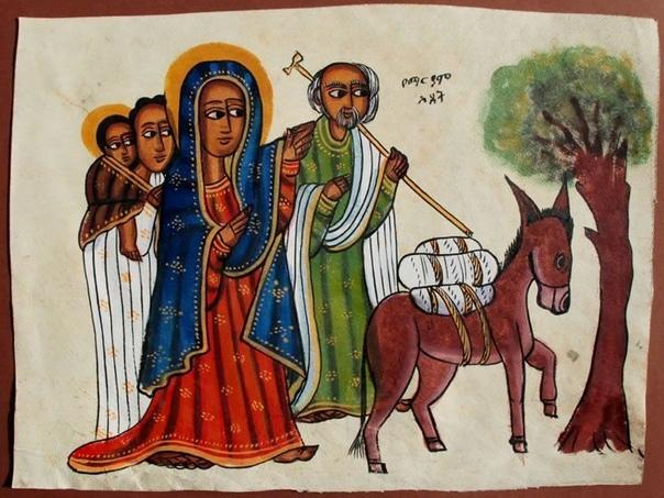 ЭФИОПСКИЕ ИКОНЫ В наше время около половины населения Эфиопии (около 40 млн.человек) исповедуют христианство (православие).Хотя история православия в Эфиопии не была такой уж