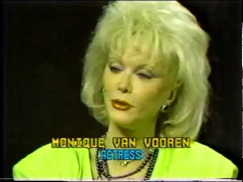 Monique Van Vooren--Rare 1986 TV Interview, Flesh For Frankenstein