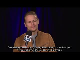 Old interview with sam heughan (rus sub)