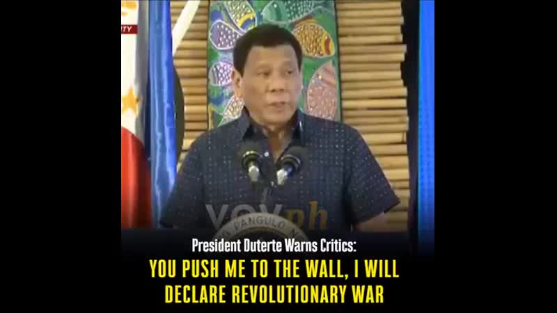 President Duterte floated the possibility of declaring a revolutionary war after opposition Senator.mp4