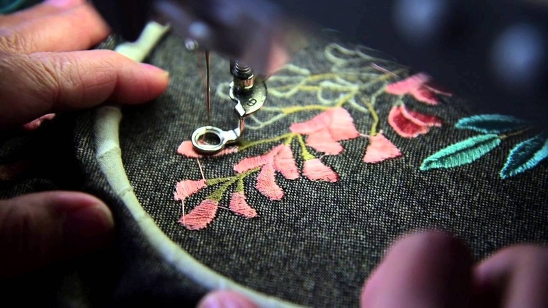 Техника ручной вышивки на Bernina