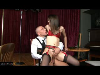 Mick Blue & Sasha Grey [ Premium &  Brunettes / The dress, Curly, Cumshot in mouth, On a rider]